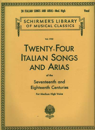 photo of Twenty-Four Italian Songs and Arias of the 17th and 18th Centuries, Medium High