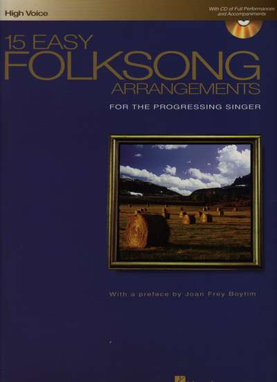photo of 15 Easy Folksong Arrangements for the Progressing Singer, High Voice