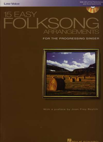 photo of 15 Easy Folksong Arrangements for the Progressing Singer, Low Voice
