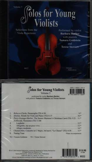 photo of Solos for Young Violists, Vol. 5, CD