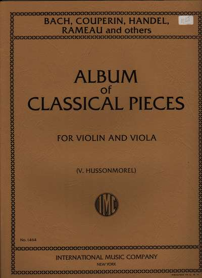 photo of Album of Classical Pieces for Violin and Viola