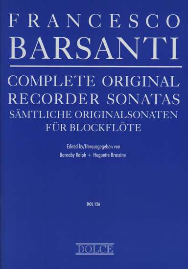 photo of Complete Original Recorder Sonatas, op. 1