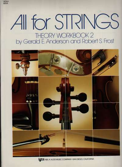 photo of All for Strings, Theory Workbook 2, Viola