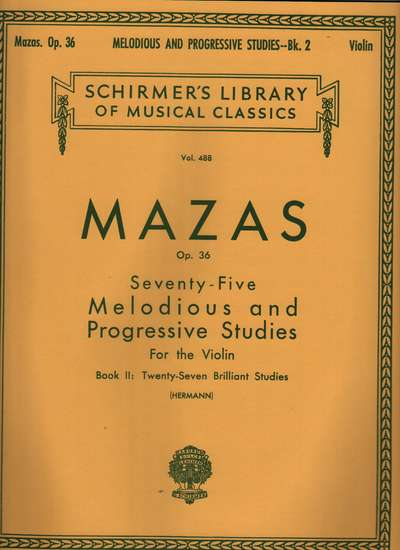 photo of 75 Melodious and Progressive Studies, Op. 36, Bk II