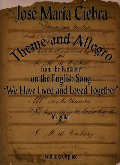 photo of Theme and Allegro from the Fantaisie on the English Song We Have Lived and Loved