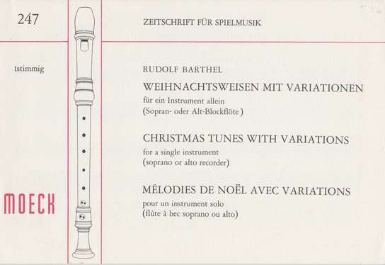 photo of Christmas Tunes with Variations, Seven tunes with variations