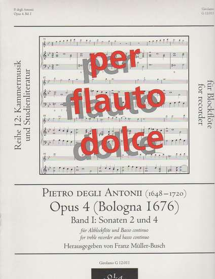 photo of Opus 4 (Bologna 1676) Band I, Sonata 2 and Sonata 4