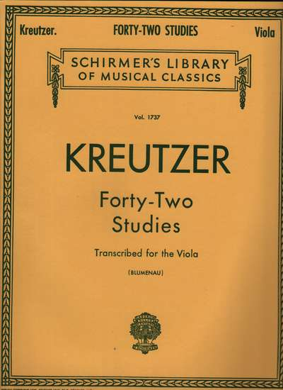 photo of Forty-Two Studies Transcribed for the Viola