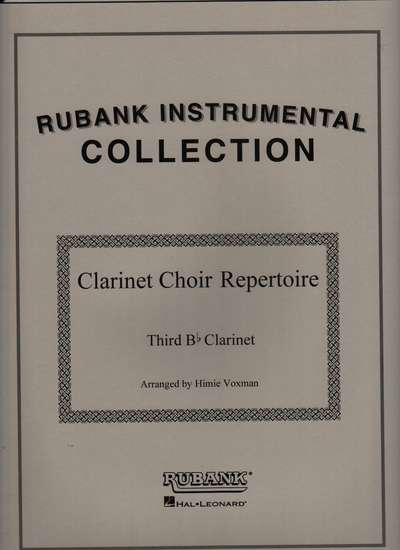 photo of Clarinet Choir Repertoire, 3rd Clarinet