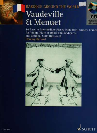 photo of Vaudeville & MInuet 16 Easy to Intermediate Pieces from 18th-century France