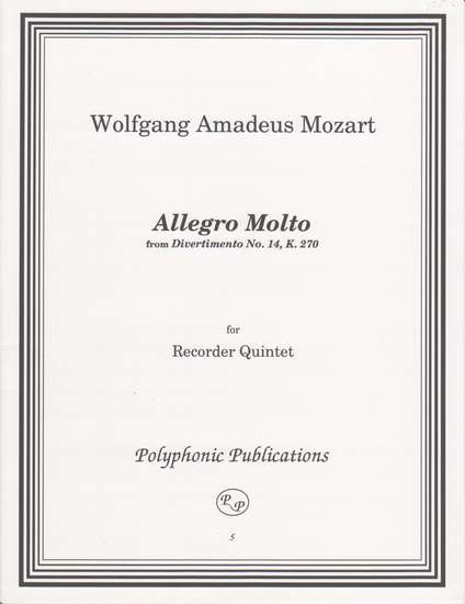 photo of Allegro Molto, from Divertimento No. 14, K. 270