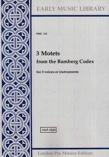 photo of 3 Motets from the Bamberg Codex, Version for Viols