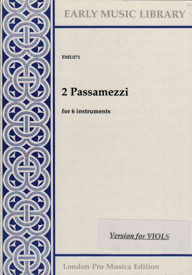photo of 2 Passamezzi, Version for Viols