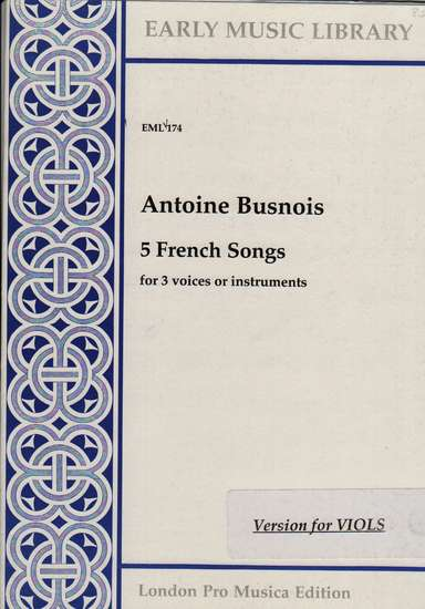 photo of 5 French Songs, Version for Viols