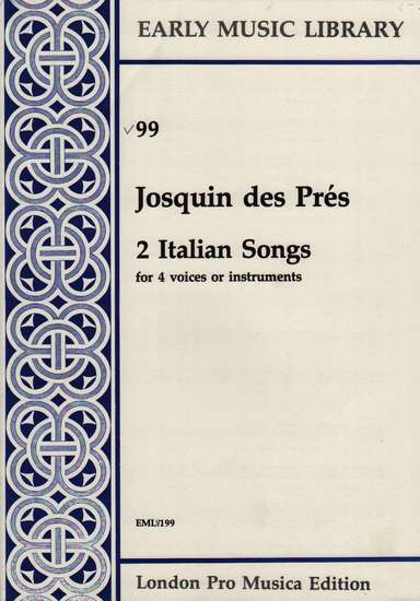 photo of 2 Italian Songs, Version for Viols