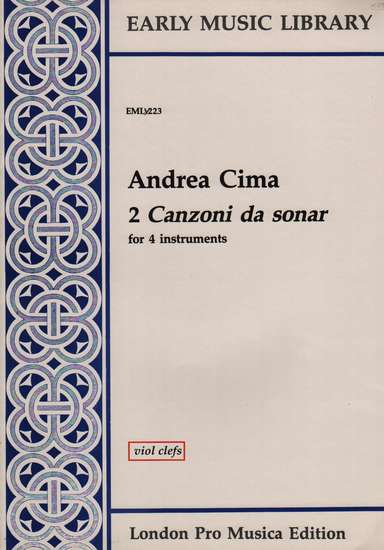photo of 2 Canzoni da sonar, Version for Viols