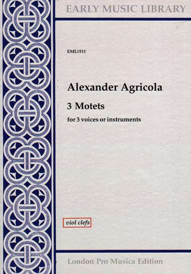photo of 3 Motets, Version for Viols