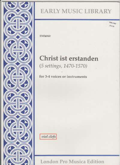 photo of Christ ist erstanden, 5 settings, Version for Viols