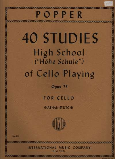 photo of 40 Studies, High School of Cello Playing, Opus 73