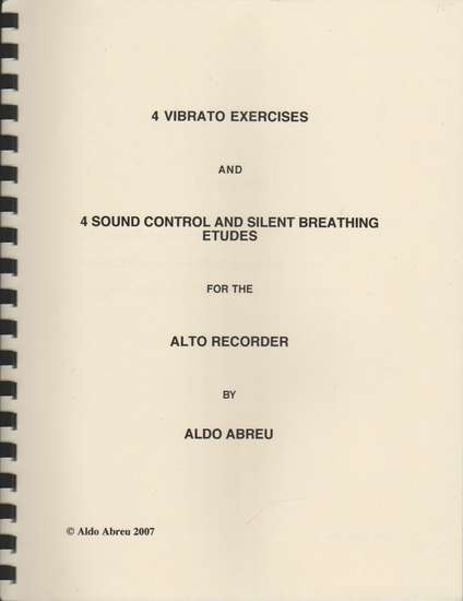 photo of 4 Vibrato Exercises & 4 Sound Control and Silent Breathing Etudes