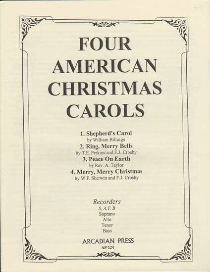 photo of Four American Christmas Carols