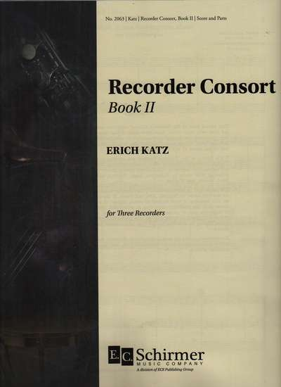 photo of Recorder Consort for Recorder Trio, Book II