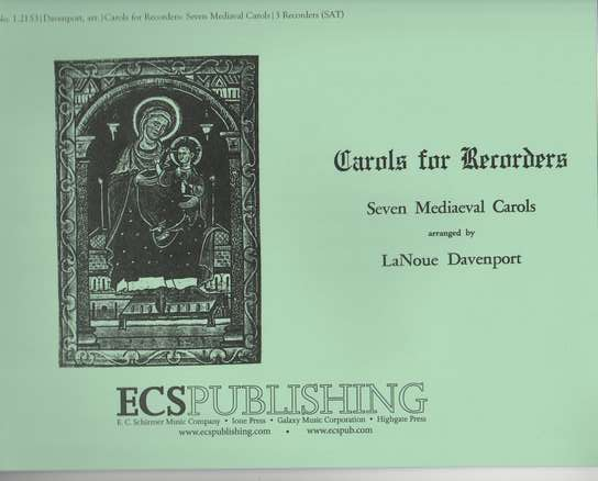 photo of Carols for Recorders, Seven Mediaeval Carols