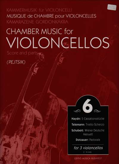 photo of Chamber Music for Violoncellos, Vol. 6 for 3 violoncellos