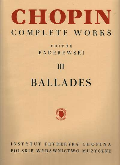 photo of Chopin Complete Works III Ballades