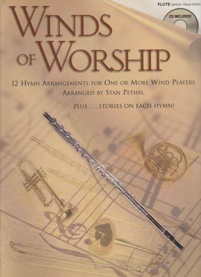 photo of Winds of Worship, Flute, 12 Hymn Arrangements for One or more wind players