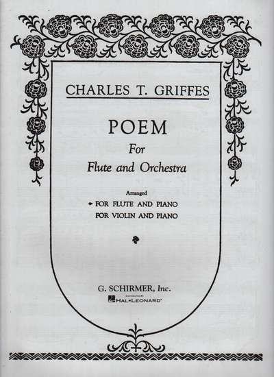 photo of Poem for Flute and Orchestra (Piano arrangement)