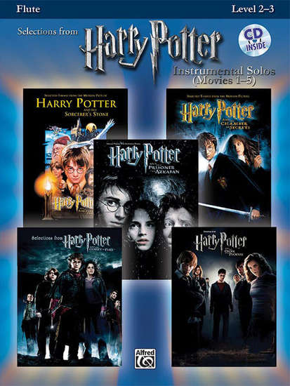 photo of Selections from Harry Potter, Movies 1-5, Flute Level 2-3, CD