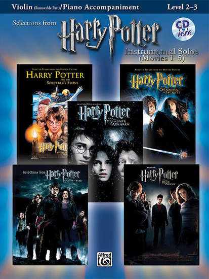 photo of Selections from Harry Potter, Movies 1-5, Violin and Keyboard, Level 2-3, CD