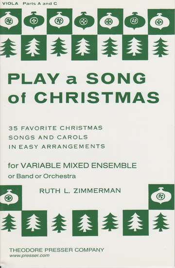 photo of Play a Song of Christmas, 35 Favorite Christmas Songs, Viola Parts A and C