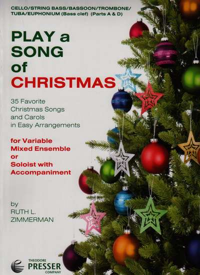 photo of Play a Song of Christmas, 35 Favorite Christmas Songs, Cello,Bass Parts A and D