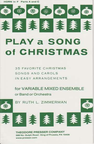 photo of Play a Song of Christmas, 35 Favorite Christmas Songs, Horn in F Parts A and C