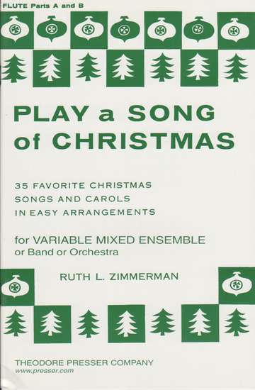 photo of Play a Song of Christmas, 35 Favorite Christmas Songs, Flute Parts A and B