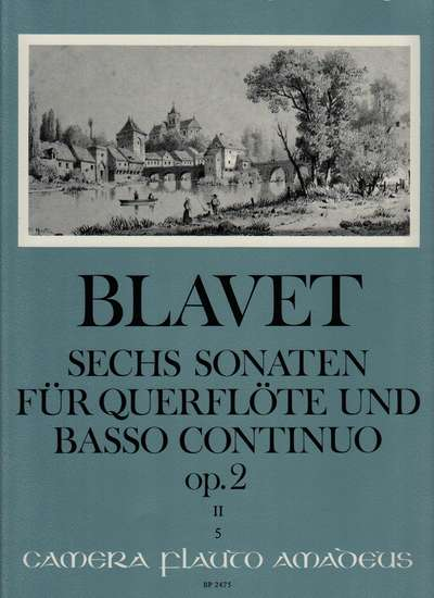 photo of Sechs Sonaten for Flute and Bc, op. 2 no. 4-6, Vol. II