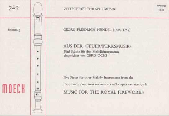photo of Five pieces from Music for the Royal Fireworks