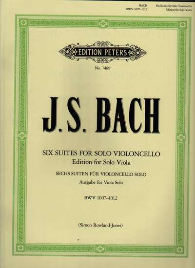 photo of Six Suites for Solo Violoncello, Edition for Solo Viola, BWV 1007-1012