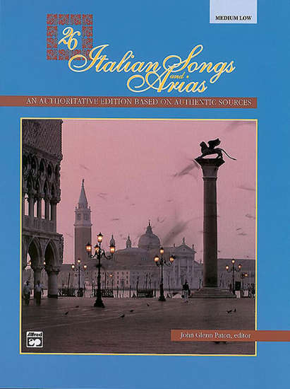 photo of 26 Italian Songs and Aria, Medium Low, with CD
