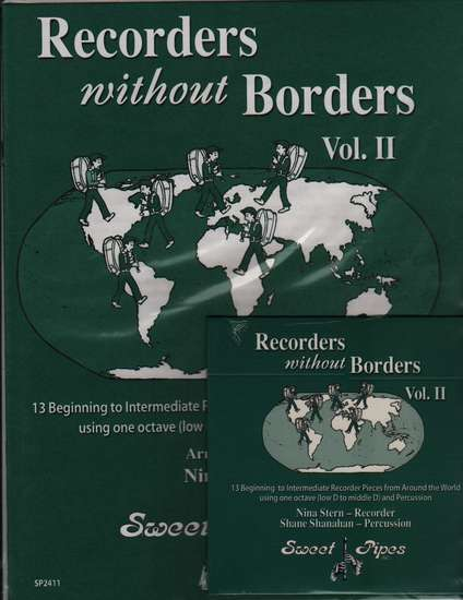 photo of Recorders without Borders, 13 one octave pieces, vol. 2 with CD