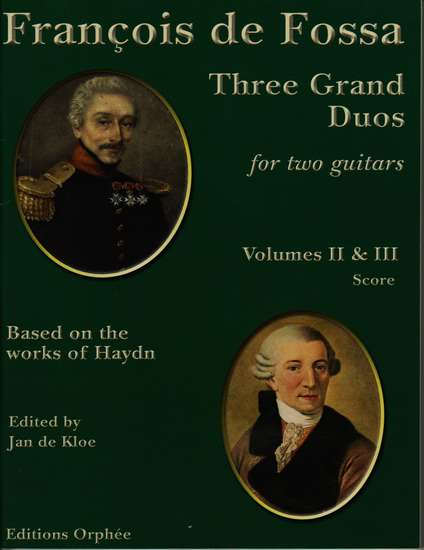 photo of Three Grand Duos for two guitars based on works of Haydn, Vol. II and III, Score