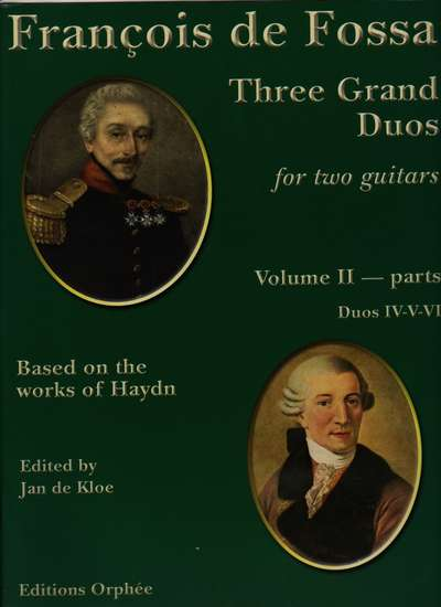 photo of Three Grand Duos for two guitars based on works of Haydn, Vol. II, parts