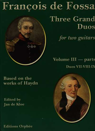 photo of Three Grand Duos for two guitars based on works of Haydn, Vol. III, parts