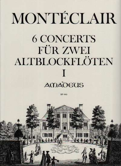 photo of 6 Concerts for two Alto Recorders without bass, Vol. I, 1-3