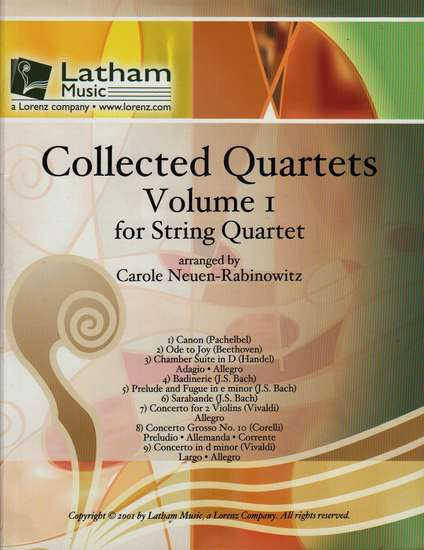 photo of Collected Quartets, Volume I for string Quartet