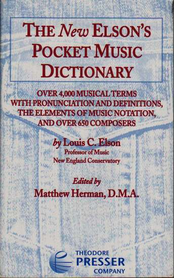 photo of The New Elsons Pocket Music Dictionary