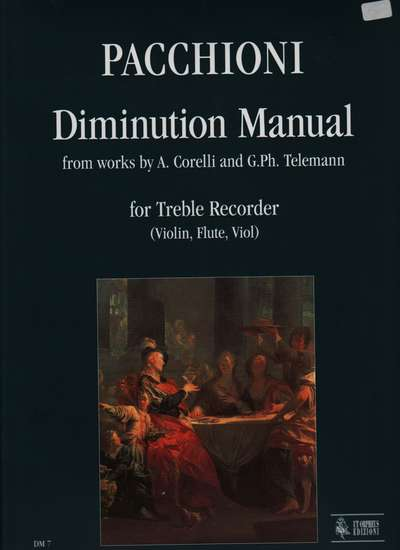 photo of Manual of Diminution from works of Corelli and Telemann