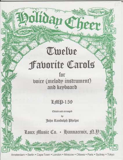 photo of Twelve Favorite Carols for voice (melody instrument) and keyboard, HCS series